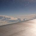 搭乘華航的班機~一路上天氣都十分晴朗