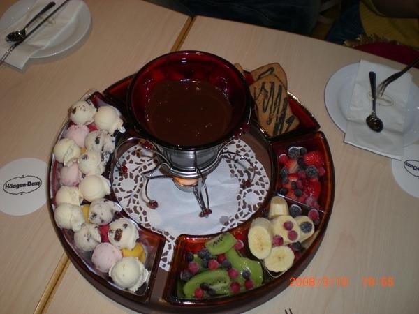 哈根達斯貴死人的巧克力火鍋