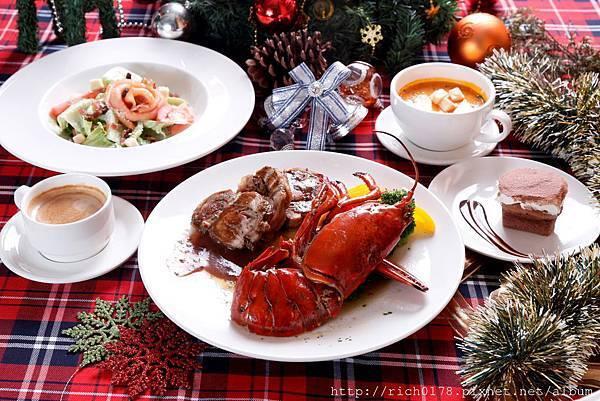 柏克菲聖誕套餐 奶油波士頓龍蝦拼栗子火雞捲(橫)