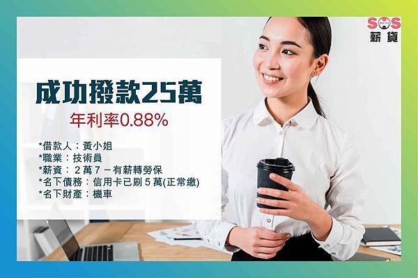2019.5.28 黃小姐 技術員 信用貸款案例-01
