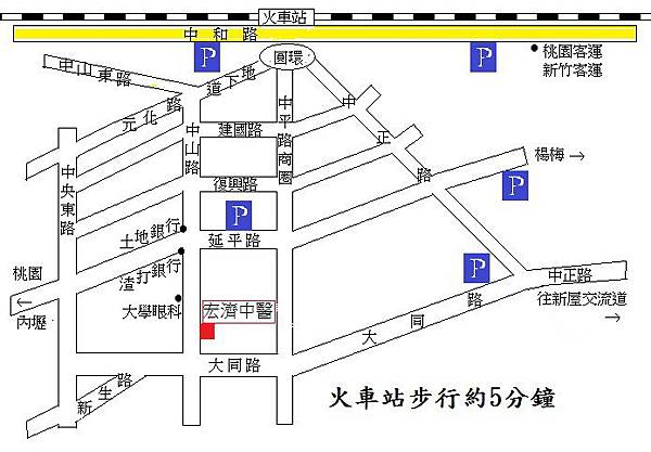 宏濟中醫診所位置圖
