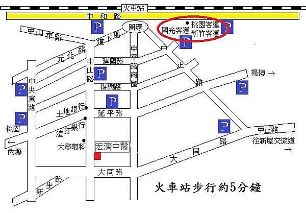 大眾交通地圖