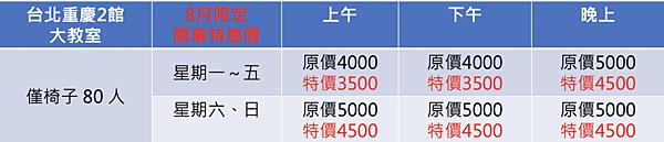 重慶二館大教室價格.png