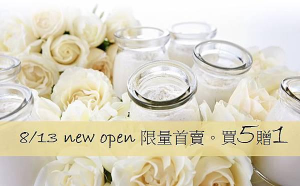 8/13 new open 限量首賣. 優惠活動