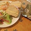 法式早餐 (生菜沙拉+煎蛋+維也納麵包)