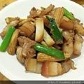 三層肉炒玉米筍