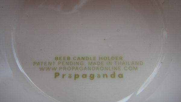 泰國設計品牌Propaganda Mr. P  創意燭台