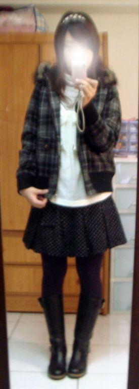 lf格紋外套-1