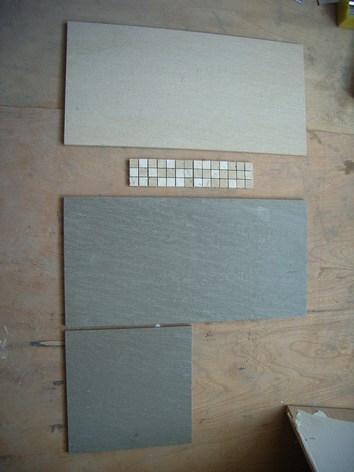 主浴室磁磚實品組合前