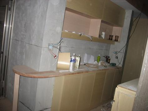 餐廳高低櫃幾乎完成