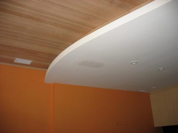 剛做好的天花板出現水漬