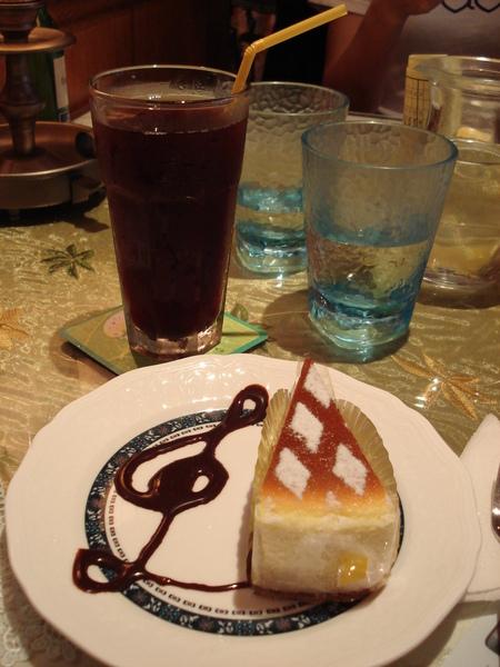 甜點-起司cake&冰莓茶