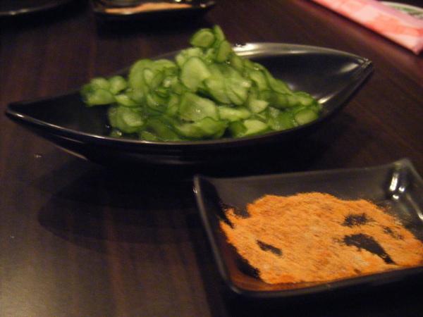 堂自小黃瓜和沾粉