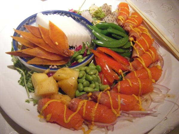 烏魚子和風燻鮭魚