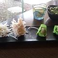 蒟蒻蟹球和波菜魚餃
