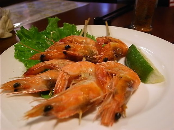 京料理烤蝦.JPG