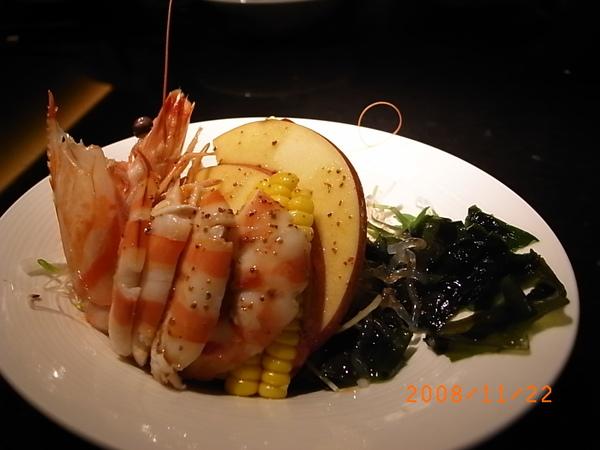 三井套餐鮮蝦沙拉.JPG