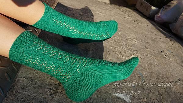 綠迷人手織襪-4