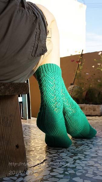 綠迷人手織襪-3
