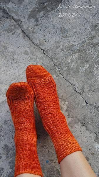 秋味桂花手織襪-2