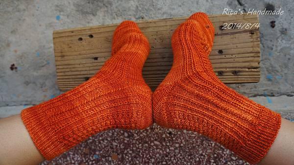 秋味桂花手織襪-3