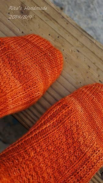 秋味桂花手織襪-5