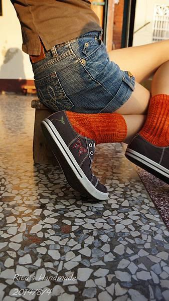 秋味桂花手織襪-6