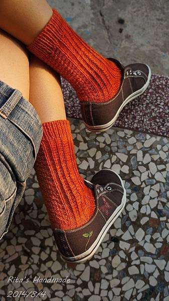 秋味桂花手織襪-8