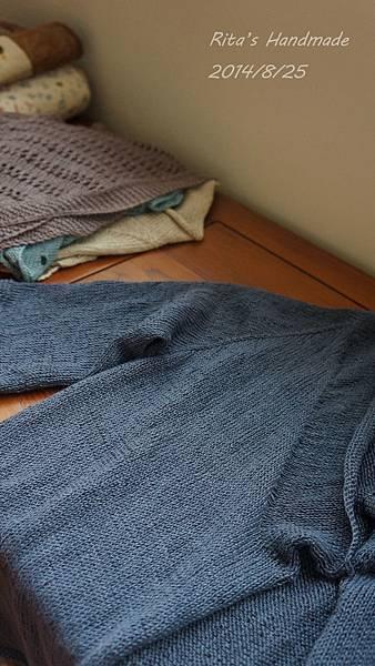 20140825_亞麻七分袖外套-3