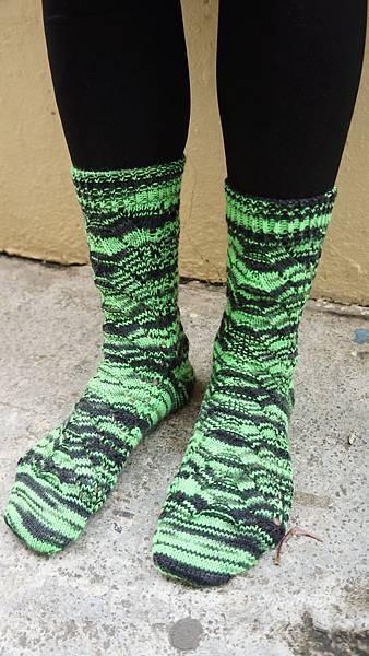 螢光綠閃閃襪_20141204-3