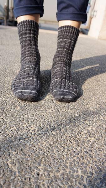 寶石手織襪-氣質灰黑-20150227-5