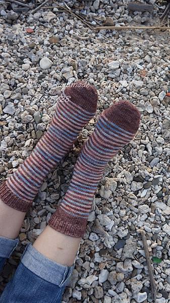 W_028條紋配色襪-4