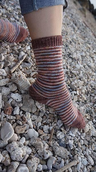 W_028條紋配色襪-5