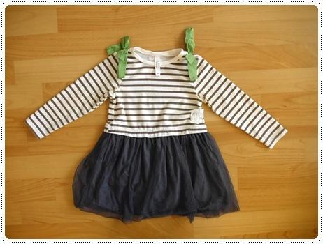 編號222.日本品牌條紋紗裙洋裝-100公分