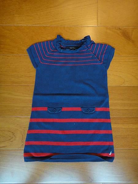 編號277.NAUTICA藍色針織洋裝3T