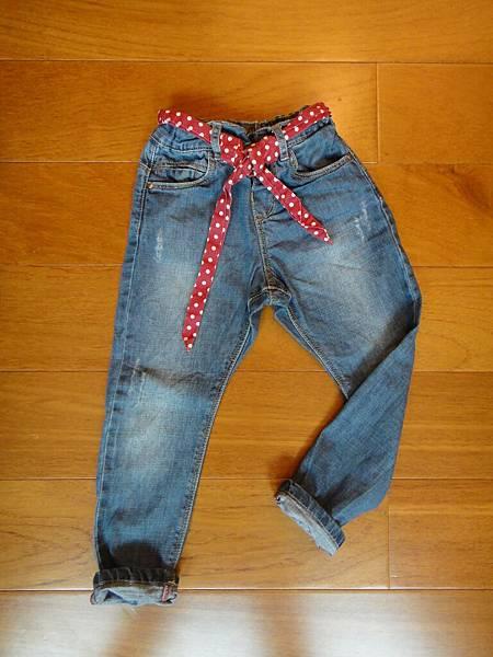 編號274.ZARA紅色點點腰帶牛仔褲24-36M
