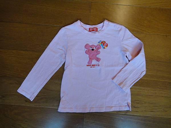 編號288.1/2粉紅熊上衣100公分