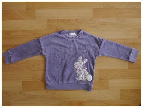 編號249.日本品牌兔子厚棉T100cm