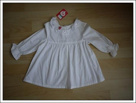 編號256.全新1/2娃娃裝白上衣5號