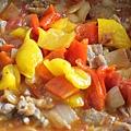 雞肉,番茄和甜椒