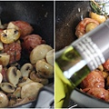磨菇燉香腸