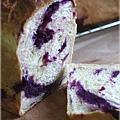 紫玉地瓜夾餡吐司