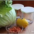 鹽水高麗菜拌檸檬櫻花蝦