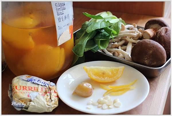 香煎雞油菌佐杏仁與檸檬