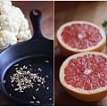 茴香籽白花椰菜.炙烤葡萄柚