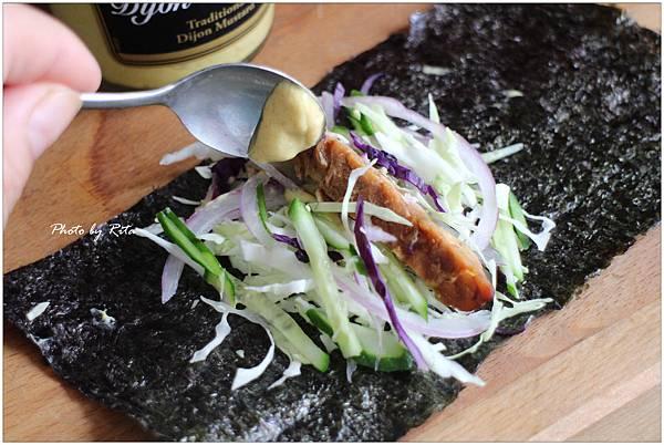 天貝料理~第戎芥末醃丹貝紫菜捲