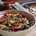 藜麥佐烤夏季蔬菜