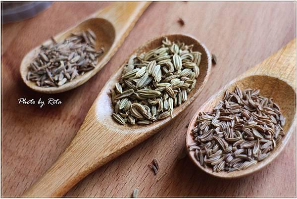 葛縷子、茴香籽、小茴香籽