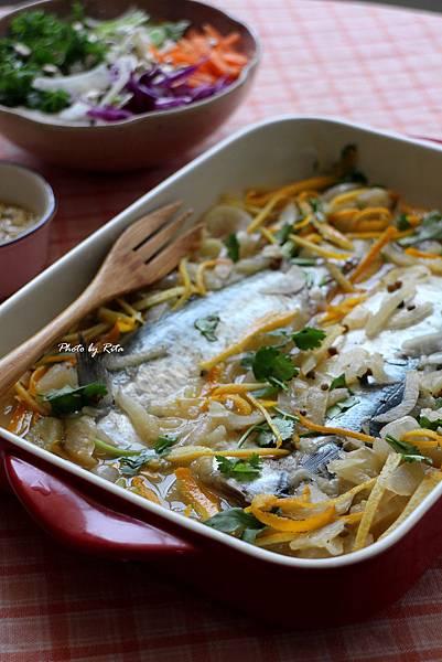 橙汁醃鯖魚