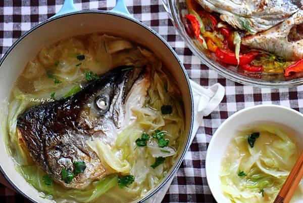 鮭魚頭高麗菜鍋